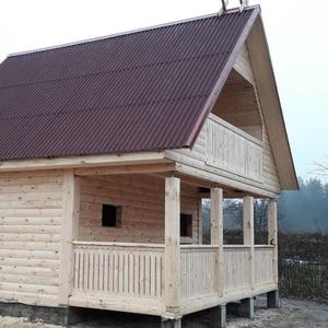 Дом-баня 6х6 из профилированного бруса проект Дени