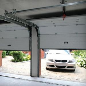 Панельные ворота с механическим управлением подъема для гаража