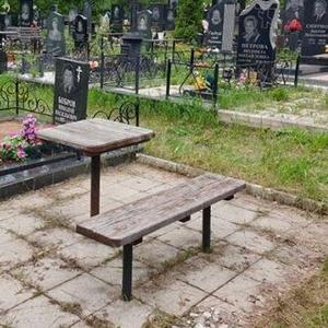 Памятники,  ограды,  благоустройство.Выезд Кладбище Лозовец