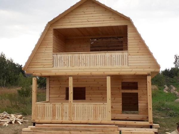 Дом из бруса сруб Андрей6×8 установка в Молодечно