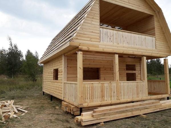 Дом из бруса сруб Андрей6×8 установка в Молодечно 6