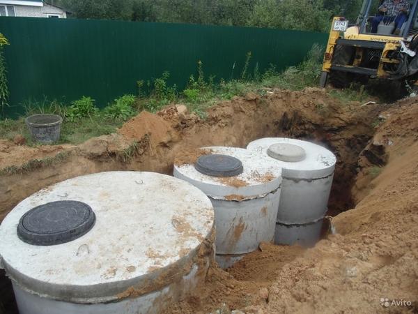 Монтаж канализации,  септиков,  очистных сооружений 2